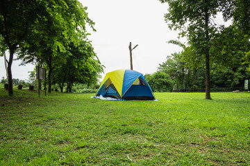 Travel, camping tents in the rainy season