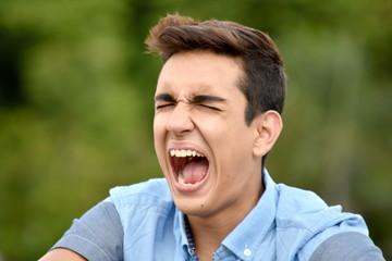 Colombian Boy Under Stress