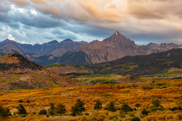 Printed roller blinds Mountains Sunrise Fall Landscape of the Dallas Divide in Colorado