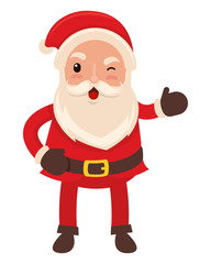 Happy funny santa claus in flat vector style
