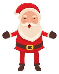 Happy santa claus celebrating christmas