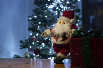 photo to write christmas message - christmas props - christmas tree - santa claus