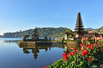 Aluminium Prints Indonesia Beautiful Pura Ulun Danu Bratan temple in Bali Indonesia