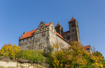Wall Mural - Castle and fall colors in historic Quedlinburg, Germany