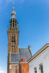 Wall Mural - Historic tower of the carillion of Edam, Netherlands