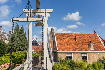 Wall Mural - Historic bridge Kwakelbrug in the center of Edam, Netherlands