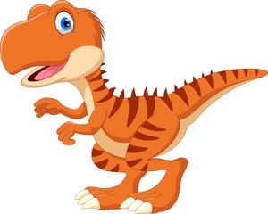 Happy Tyrannosaurus cartoon