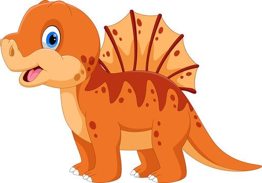 Illustration of cute a Spinosaurus cartoon