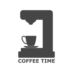 Coffee maker icon vector isolated on white background