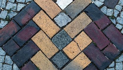 Farbiges Steinplattenmuster