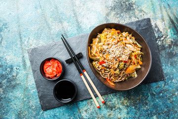 Plate of stir fry noodles