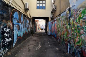 Keuken foto achterwand Smal steegje Small alley at Adelaide Street in Perth, Australia