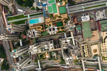 Hong Kong building from above