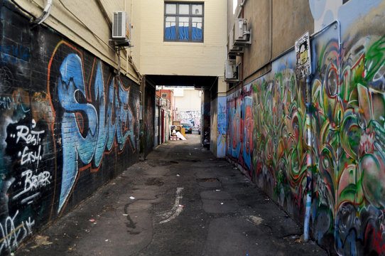 Small alley at Adelaide Street in Perth, Australia