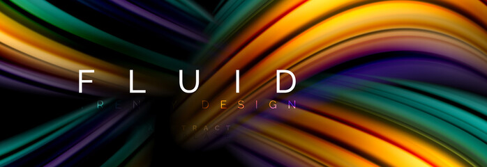 Fluid color motion concept