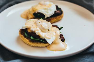 eggs and benedict breakfast