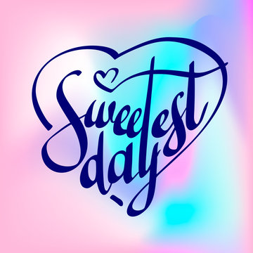 Sweetest day text logo. Simple illustration of sweetest day text vector logo for web design
