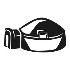 Big igloo icon. Simple illustration of big igloo vector icon for web design isolated on white background