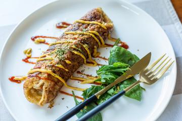 omelette on plate