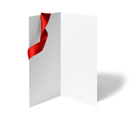 ribbon bow card note leaflet print chirstmas celebration greeting