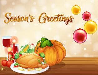 A thanksgiving card template