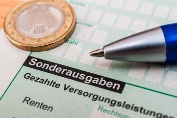 Finanzamt Steuererklärung Sonderausgaben