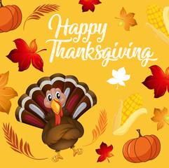 Turkey on thanksgiving background