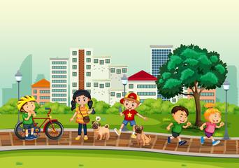 Children and outdoor activity