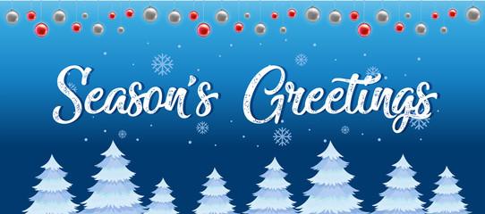 Winter season's greetings template