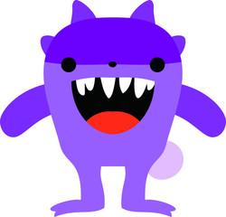 cartoon cute monster vector
