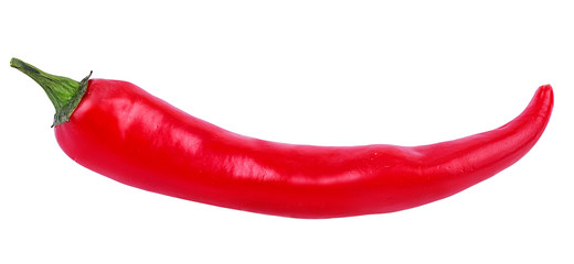 Canvas Prints Hot chili peppers Fresh hot red chili pepper isolated on white background with clipping path