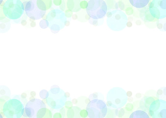 水彩水玉フレーム