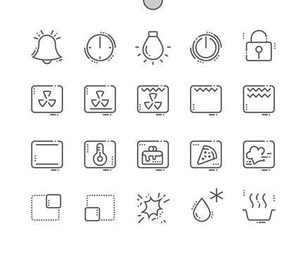 Oven Symbols Well-crafted Pixel Perfect Vector Thin Line Icons 30 2x Grid for Web Graphics and Apps. Simple Minimal Pictogram