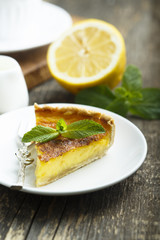 Homemade lemon tart
