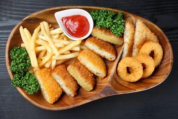 deep fried foods plate