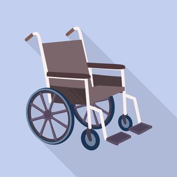 Medical wheelchair icon. Flat illustration of medical wheelchair vector icon for web design