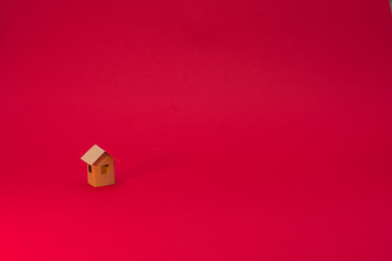 Paper Home, red background