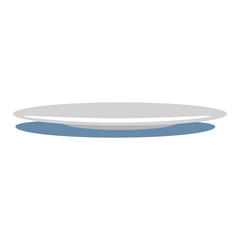 Plate icon. Flat illustration of plate vector icon for web design