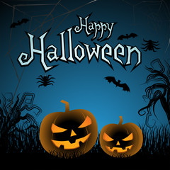 Happy halloween greeting card with cool background
