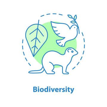 Biodiversity concept icon