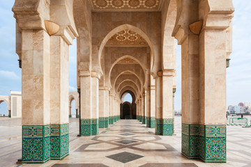 Printed roller blinds Morocco Hassan II Mosque