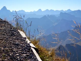 Wanderweg am Nebelhorn Oberstdorf