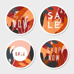 Round Autumn Design Stickers