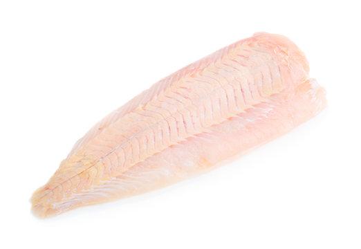 Raw pangasius fish fillet