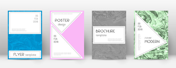 Abstract cover. Attractive design template. Suminagashi marble stylish poster. Attractive trendy abs