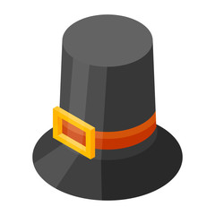 Thanksgiving hat icon. Isometric of thanksgiving hat vector icon for web design isolated on white background
