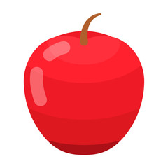 Red apple icon. Isometric of red apple vector icon for web design isolated on white background