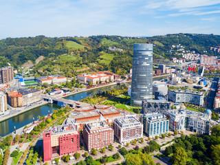 Bilbao aerial panoramic view, Spain