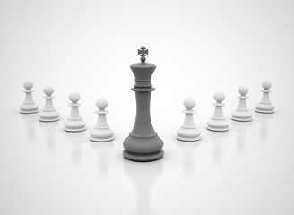 Chess king leadership close up image