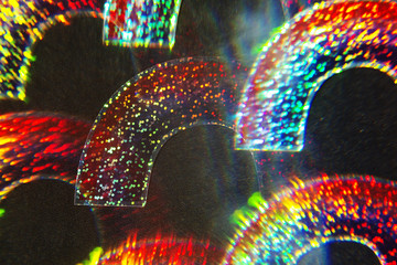 Holographic rainbows photographed through a prism